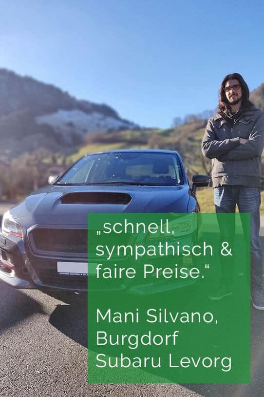 zufriedener Kunde Garage Neukomm - Subaru Levorg